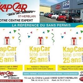 KAP CAR, la Référence du Sans Permis depuis 26 ans !